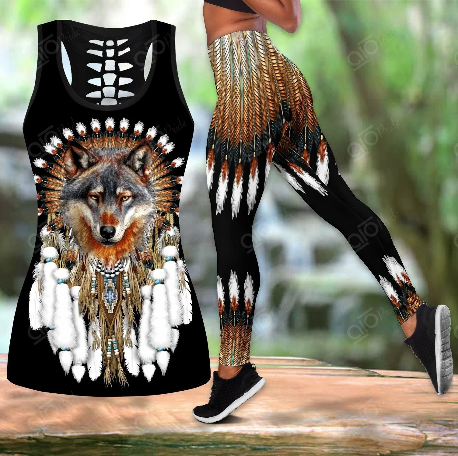 Wolf Native Hollow Tank Top Or Legging