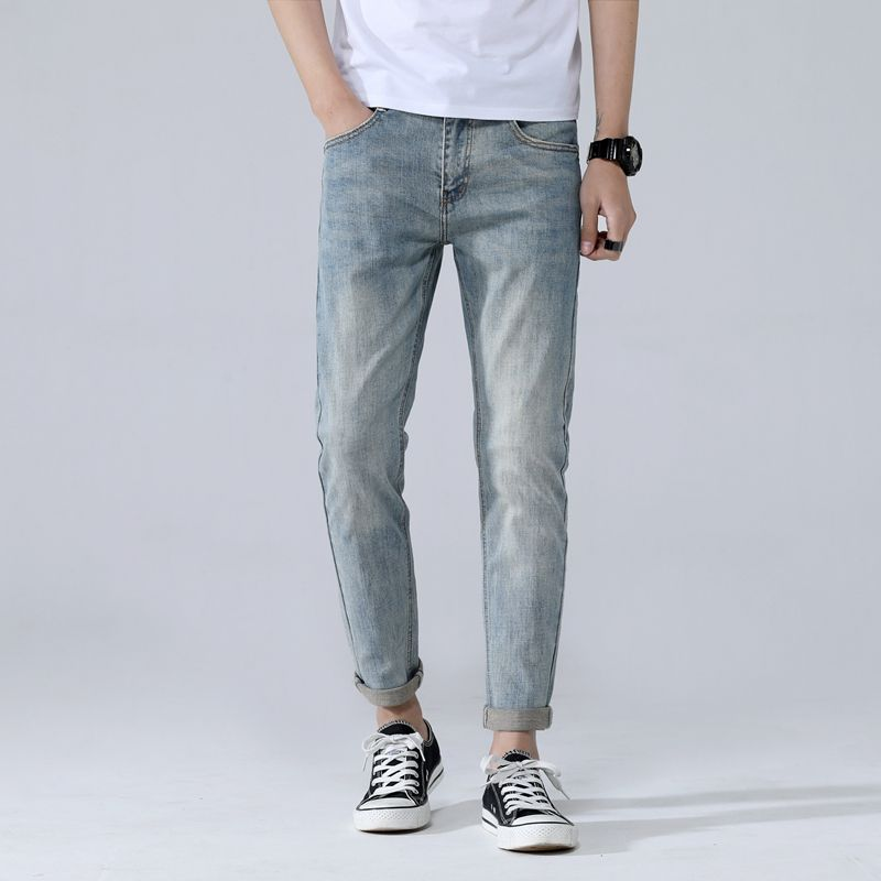 loose feet thin section straight Elastic jeans