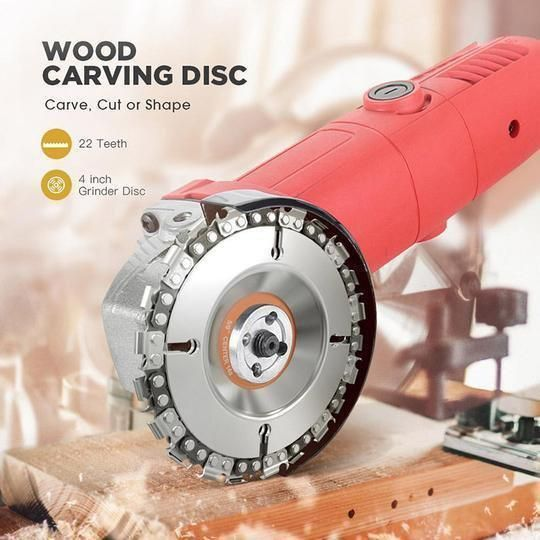 """Grinder Wood Carving Chain Disc Grinder Wood Carving Chain Disc 10.2 CM (4"""")"""